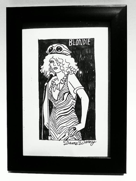 Dame Darcy, Illustration, punk, Blondie, comics,  Debbie Harry Singing