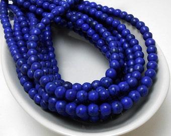 70 Blue Howlite Beads 6MM (H7026-OS)