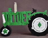 Oliver Antique Green Farm Tractor Wooden Toy Puzzle Hand Cut