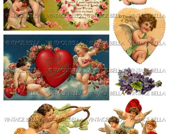 Vintage Edwardian Postcard Cherub Valentine Digital Download 326 - by Vintage Bella