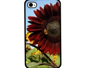 Phone Case - Red Sunflower - Hard Case for iPhone 4, 4s, 5, 5s, 5c, 6, 6 Plus - iPod Touch 4, 5 - Galaxy S3, S4, S5