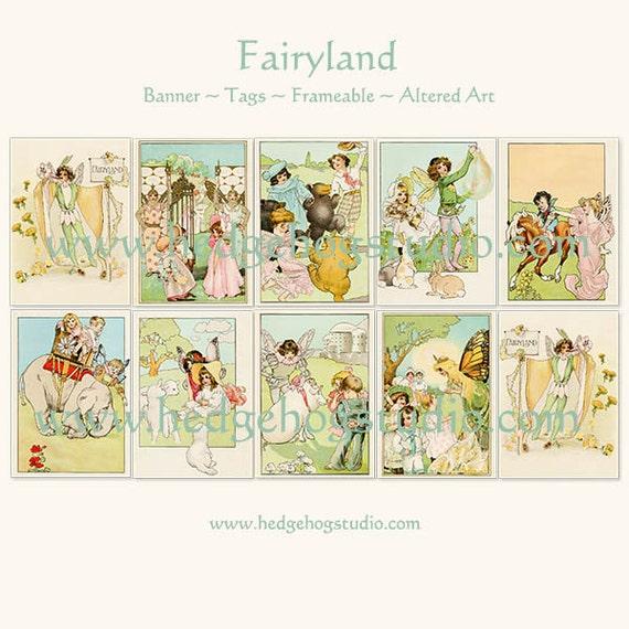 Fairyland - Banner - Tags - Altered Art - Fairbanks Fairy Soap