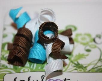 BLUE NEAPOLITAN corker bow