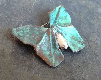 "Silver Origami Butterfly Brooch ""Vivace"", number five in Concerto Series, OOAK"