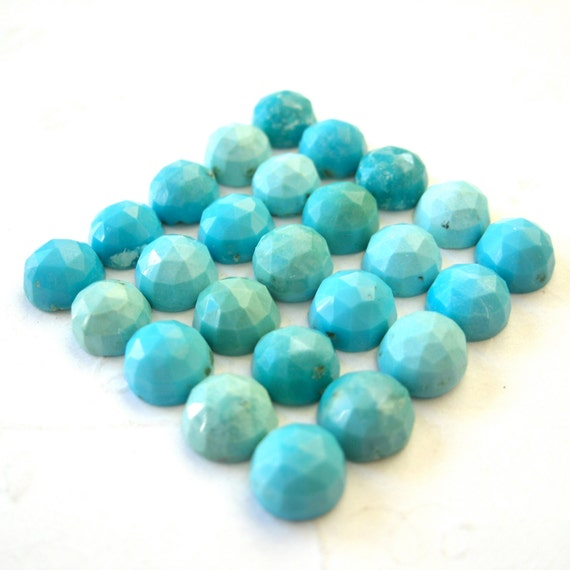 RESERVE LISTING for Sarah Gemstone Cabochons Turquoise 6mm