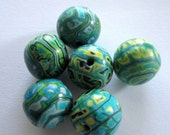 Rainforest  Handmade Polymer Clay  Beads Jewelry Supplies
