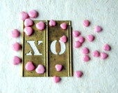 Pink Heart Beads, vintage glass, two sizes, 26 beads, Valentine's Day, valentine, hearts