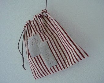 Sashiko Drawstring Bag