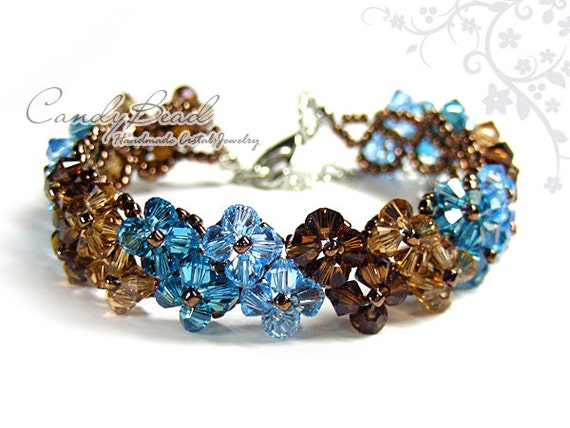 https://www.etsy.com/listing/122377925/swarovski-crystal-bracelet-brown-and