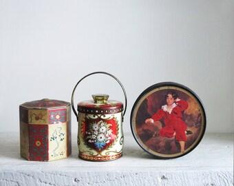 Trio of Vintage Decorative Tins