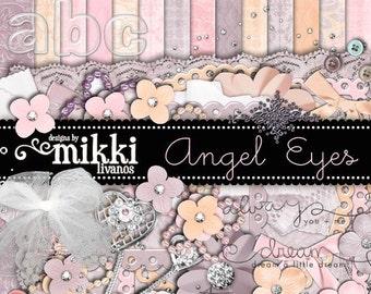 Digital Scrapbook Kit- Angel Eyes