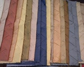 "Twenty Silk Samples in Pleat Pattern-Each 12"" x 12"""