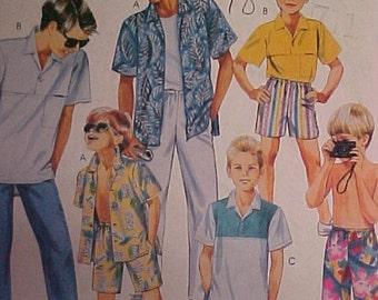 McCalls Pattern 2946 Boys Shirt Short size 10