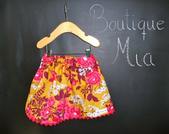 SAMPLE - Children Skirt - Joel Dewberry - Will fit Size 12-24 month up to 3T- by Boutique Mia and More - Ready To Ship