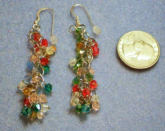 Multicolored Dangle Earrings (845)