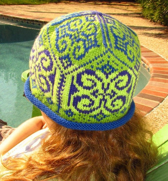 Emilia's two hats. PATTERN, offered in both English AND Norwegian text