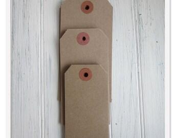 Kraft Blank Tags - Gift Tags - Craft Supply - Escort Tag - Paper Tags - Blank Hang Tags