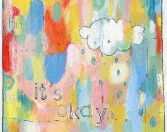 it's okay - POSTER PRINT