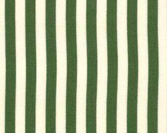 Savonnerie Stripes - American Jane For Moda - Green Stripe - 1 Yard - 9.75 Dollars