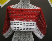 Two Tone Shrug-White Red