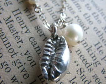 Hawaii Beach Shell Necklace No. 3 - Sterling Silver Caste Sea Shell Charm - Beach Theme - Gift Anniversary Travel Retirement Reunion