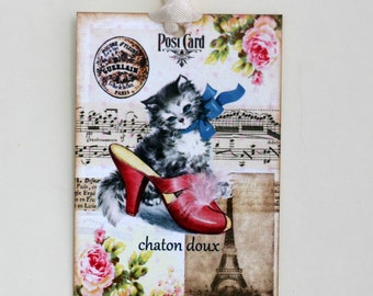 French Kitten Gift Tags