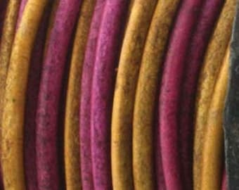 Genuine India LEATHER Cord 1.5mm Gypsy Dyed Irasa (By the Yard) 420437