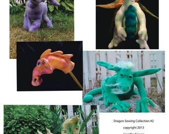 The second Collection of Dragon Patterns, Pdf files, digital downloads