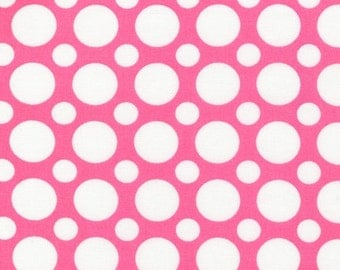Robert Kaufman Spot On in Pink, Half  yard