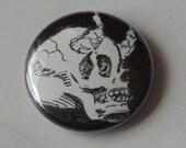 Demon Skull 1 Inch Pin