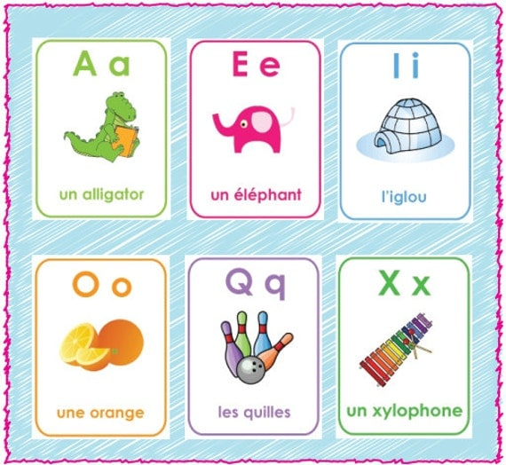 Wild image inside printable french flashcards