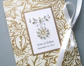 Wedding Photo Album Mother of the Bride Git, Mother of the Groom Gift - Personalized Gold and Ivory Ornate Petite 5x7