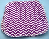 Purple Chevron Double Layer Flannel Washcloths Set of 3