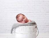 "Photography Backdrop 4ft x 3ft, Vinyl Backdrop White Brick Wall Photo Background, Newborn Prop, Photo Prop, ""Great White"""