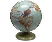 Fly Away, Bird, Vintage Globe Art