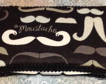 Moustache Travel WIPE Case black white BOY or GIRL baby shower gift Mustache