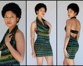 Green Blend Crochet Dress