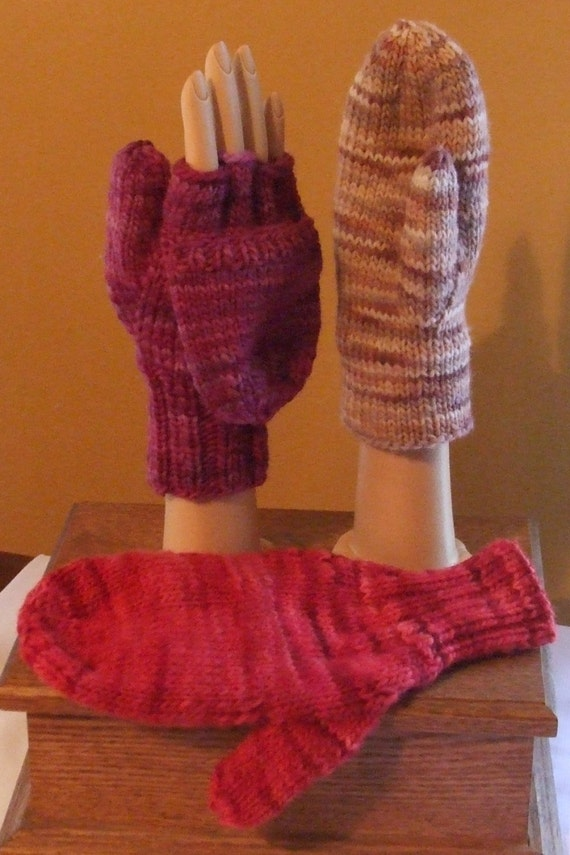 Items similar to Flip Top Mittens Pattern-Knit on Etsy
