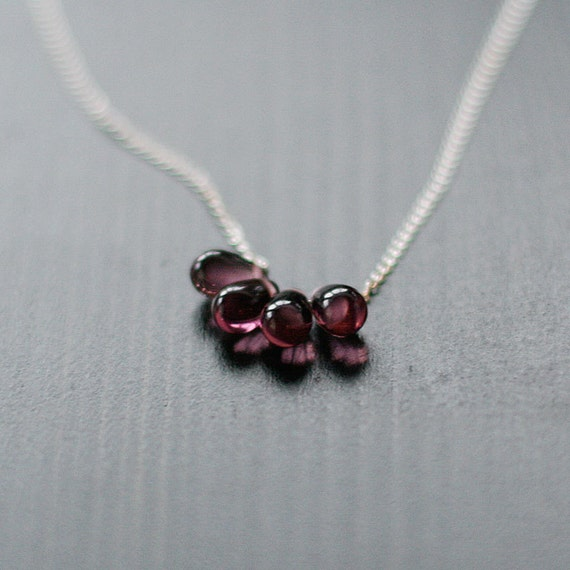 lotus - silver and purple teardrop necklace by elephantine