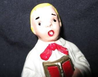 Old Chalk Ware Choir Boy