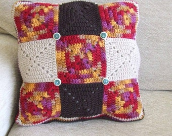 Early Sunset Crochet Cushion Cover