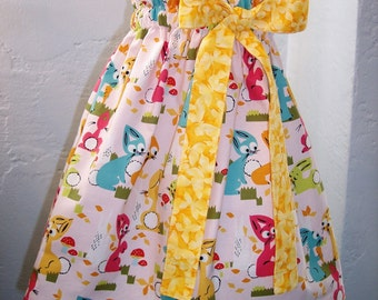 My Carrie OOAK Bunny Paper Bag Skirt with Tie Belt/Bow Ready to Ship