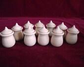 10 PREMIUM Bean Pots with 10  Large Acorns