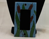 Copper Enameled light switch Cover Cattails ground fault green brown blue single toogle