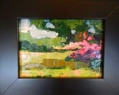 oil painting, landscape, miniature, framed, original