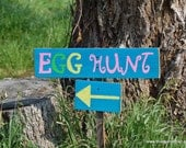 Easter Sign Easter Decorations Egg Hunt Sign Yard Decor Easter Rabbit Signs Easter Party Sign Road Sign Direction Signs Arrow