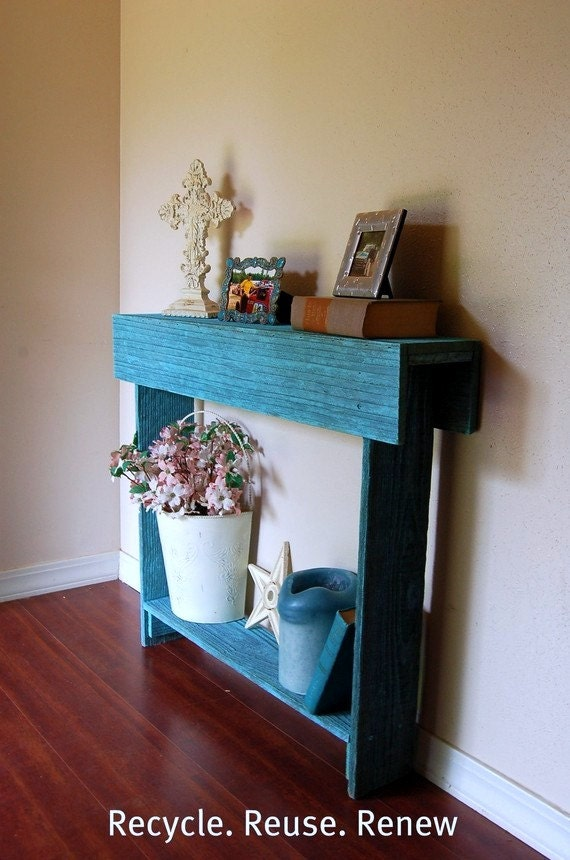 Console Table. Entry Table. Comes in Diferent Colors. Blue Ocean Cedar Skinny Wall Table. Rustic Furniture. 30x6x30
