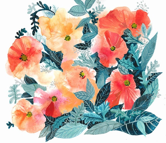 Poppies-Small Archival Print