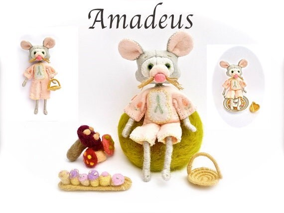 Felt Doll Making Kit Amadeus Mouse