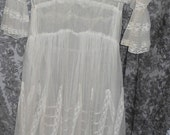 RESERVED for Dixie Gypsy SALE Antique Handmade Net Lace Dress